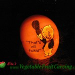 Porky Pig Pumpkin Carving