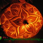 Flower Design Pumpkin Carving by Nita