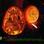 Riding Elephant Pumpkin Carving