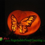 Another Butterfly Pumpkin Carving