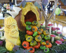 Pam Propper's entry in the People's Choice Carving Competition
