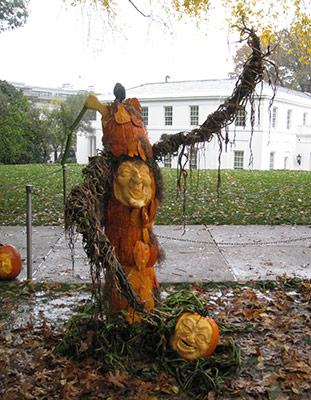 Pumpkin witch an the White House