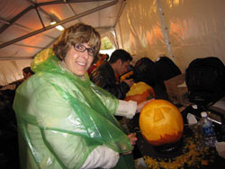 Nita Gill carved pumpkins at the whtiehouse