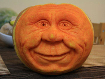 Simon Muscat carved this Happy Faced Pumpkin