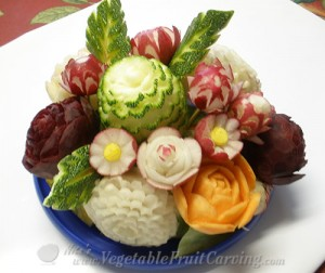 Root vegetable bouquet by Phung Nguyen