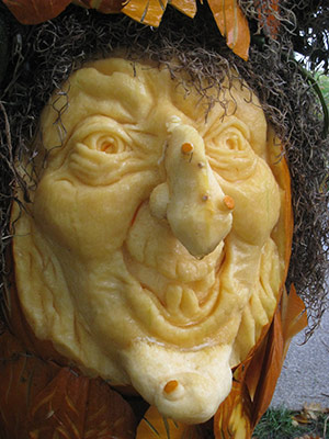 Pumpkin witch face by Pam Leno at the White House