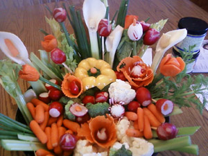 Vegetable Centerpiece for Thanksgiving by Rhonda Ashley