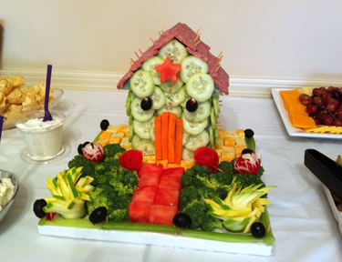 Cindy Halferty's Edible Garden House Vegetable Art