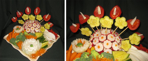 fruit platter arrangements by Aneta Lekas