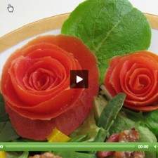 carved tomato roses