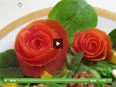 Vegetable Carving With Tomato Ideas for Valen...