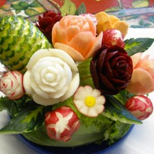 Vegetable edible arrangements by Phung Nguyen