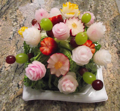 Vegetable bouquet arrangements by Jim Lorenz