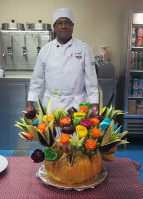 Fruit carvings by Harry