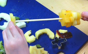 Fruits and Vegetables shape kabobs