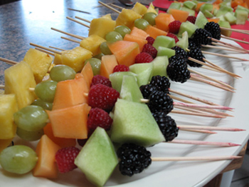 Fruits and Vegetables Kabobs