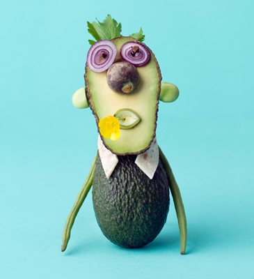 Fun food art with Avocado by Carl Kleiner