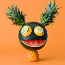 Fun food art with Watermelon and pineapple by Carl Kleiner