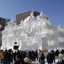 City Hall Snow Sculpture at Sapporo Ice Festival