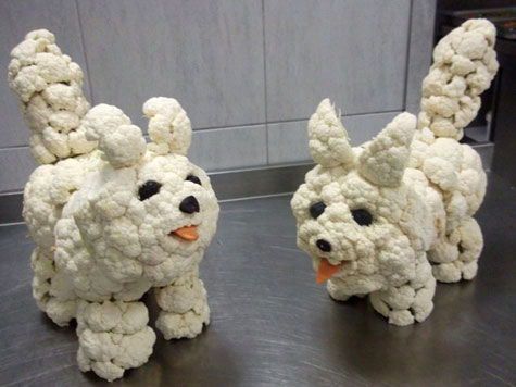 Cauliflower dogs