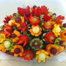 fruit edible arrangement by Najlaa