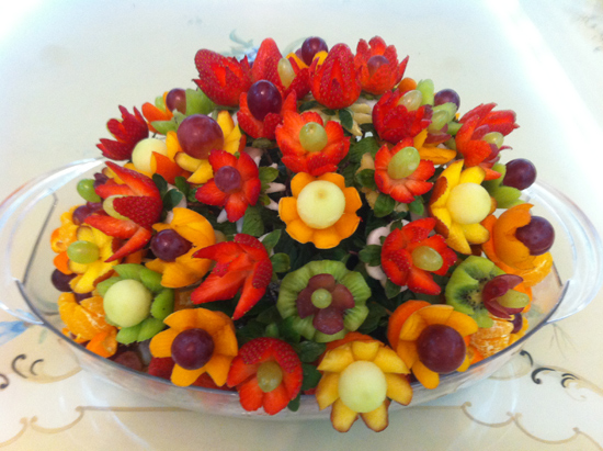 How to make fruit arrangements with nita 39 s lessons Fruit bouquet