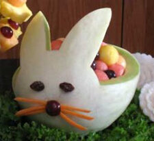 Melon bunny basket for Spring