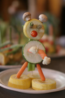 vegetable sculpture made by a child