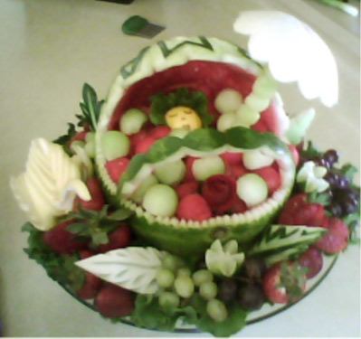 watermelon baby carraige