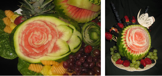 Aneta's vegetable and fruit carving platters