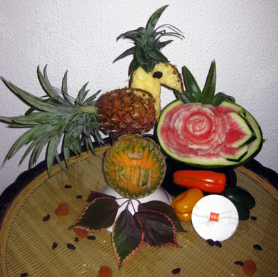 Aneta's vegetable and fruit carving for Riu Mambo