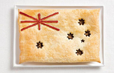 Food Art Austrlia Flag