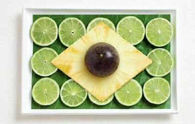 Food Art Brazil Flag