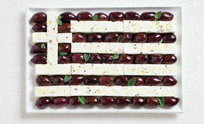 Food Art Greece Flag