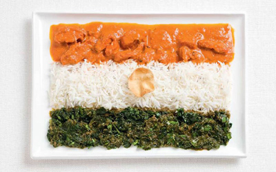 Food Art India Flag