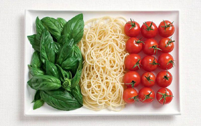 Food Art Italy Flag
