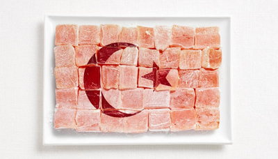 Food Art Turkey Flag