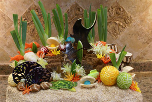 Food Art Underwater Garden by Gianna Goldy
