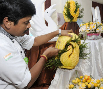New Year Fruit Carving