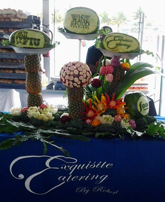 Vegetable and Fruit Carving Exquisite Catering