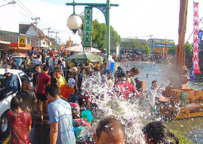 Water Festival Event in Thailand