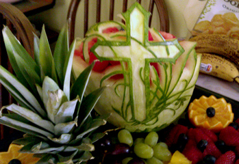 Watermelon cross by Rose Flores for melon bunny and ice bunny post