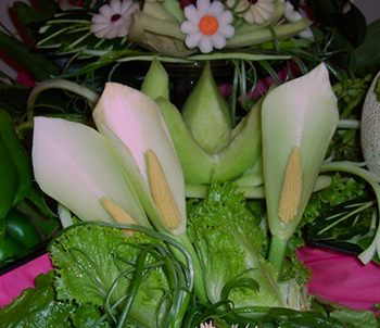 Fruit Carvings Fennel Lilies