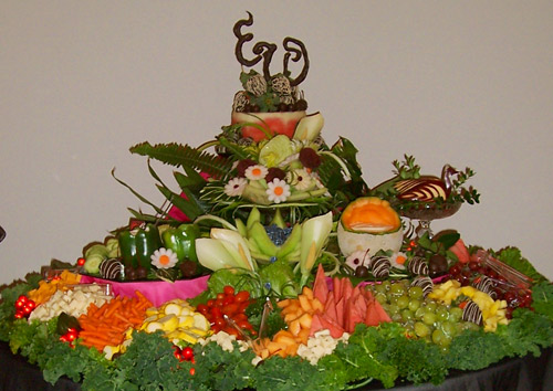 Fruit Carvings by Deborah Cheeseman