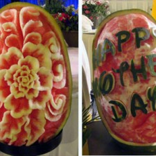 Mother's Day Vegetable and Fruit Carvings
