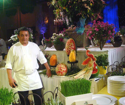 Vegetable and fruit carvings by Ruben Olano from Disneyland Resorts