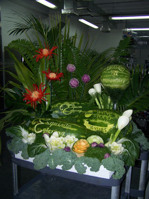 Rik Testani's WaTermelon Carving Display for Food Network SOBEWFF 2011