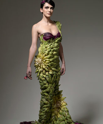 Food Fashion artichoke dress