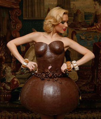 Food Fashion chocolate dress