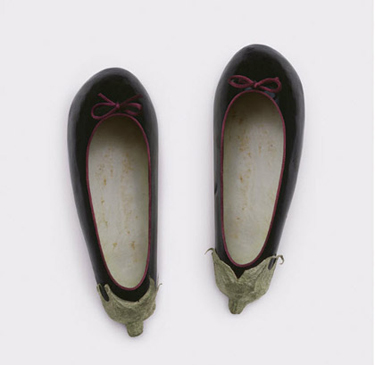 Food Art Pictures eggplant slippers by Fulvio Bonavia